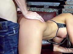 Danny D is the right guy to star in any porn video, and so hes in this esperanza gomez videos as well. She sucks his massive cocks and gets slammed real good and hard so her jugs are shaking