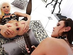 Jayda Diamonde fulfills her sexual desires with Roxy Raye in lesbian action