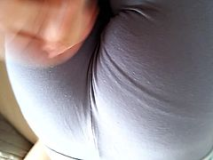 cum on her ass in yoga pants