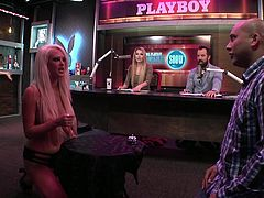 No matter who wins at this game, I think the guys clearly win. This is a variation on Family Feud, but much better as Team Playboy features four long-haired, gorgeous women who are topless the whole time. The girls and guys battle it out for supremacy with sex-related survey questions. Watch now!