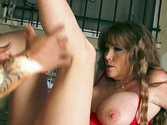 Darla Crane is a big breasted mature woman on fire. Passionate MILF bares her huge hooters and then spreads her legs wide open. She cant wait to take man meat in her neatly shaved experienced pussy.