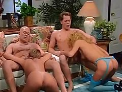 group doggy and facials classic scene