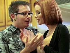 Redhead Russian cock craving milf that goes by the name of Veronica Avluv is seducing her stepson. The kid didnt know what hit him, but he sure knew how to hit her with his dick
