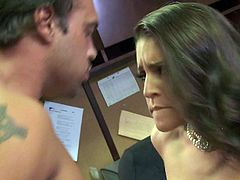 Gracie Glam gets her bush pounded at the office
