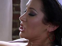 Big boobed brunette Jayden Jaymes and her horny fuck buddy love sex in uniform. Big breasted nurse gets her mouth and twat fucked silly by dirty fireman in this crazy porn action.