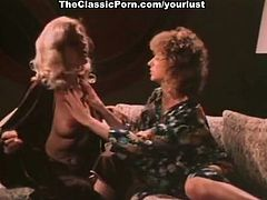 Old fashioned curly lesbians enjoy tickling and licking each other's slits