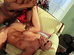 Big titted blonde wife Kaylee Bro makes her interracial fantasies come true with big dicked black guy who buries his fat dick in her dripping wet pink fuck box with big desire. This hot wife is horny as hell.