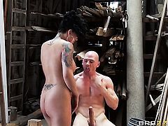 Johnny Sins gets pleasure from fucking Eva Angelina with gigantic tits in her love box