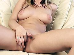 Sophie Cox has fun with vibrator