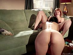 When two horny lesbians are completely naked, you can expect kinky activities... Dana and the redhead slut that accompanies her, are clearly attracted to each other and it's time to transform their hot fantasies into reality. See them eating pussy and getting loose!