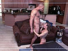 Cute Callie Calypso loves getting face fucked
