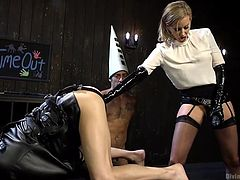 hot mistress torturing two guys
