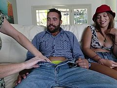 bitch sharing cock with a horny mum