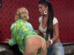 Lewd lesbian couple film themselves masturbating with toys