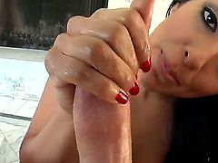 Brunette slut that goes by the name of Kiara Mia is going to give him a hand, since hes all tired and shit. She knows what were the things that he needed.