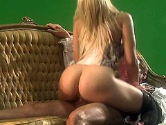 Sexy dressed blonde bombshell Alexis Texas gives headjob and bounces on cock with her perfect ass up. Her big well shaped butt will make you cream your pants. She is super sexy!