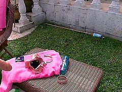 Eva Angelina, Mercedes Lynn and Jordana Heat strip and tongue fuck each others wet snatches like crazy in lesbian threesome under the open sky. They do it just like crazy on tennis court.