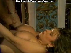 A bit plump but still sexy curly vintage nympho provides dick with nice BJ