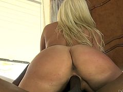 Slutty Layla is ready to fulfill her kinky fantasies... But this blonde-haired bitch didn't expect to get fucked in such an intense manner. Watch her getting dirty in the company of a passionate ebony partner, who's just craving to stuff his big hard dick in her tight ass.