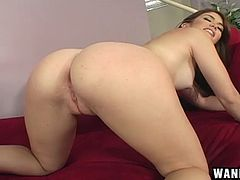 Naughty chic soaks her fingers in her pussy after the cocky dude got it wet