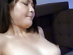 Kanna Harumi with cum on mouth is nailed in hairy cunt