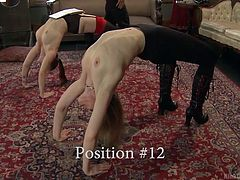 These uninhibited bitches are eager to show, what they have learned from their kinky professor. Click to watch the topless sexy ladies on high heels, following the precise instructions through an inciting educational demonstration! See the blonde sluts having fun with a vibrator...