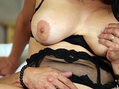 If you've got a passion for naughty Hispanic babes, Missy Martinez could be exactly what you're looking for: a hot brunette with sensual body and fantastic big boobs, who loves sucking cock and riding it until she fades. Click to see this horny brunette in the reverse cowgirl position!