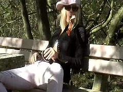 german blonde amateur outdoor