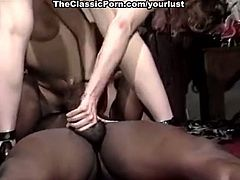 Pale vintage brunette sluts go interracial to be analfucked perfectly well