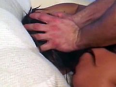 Well graced brunette mom Sandra Romain enjoyed hardcore MMF with cute guys