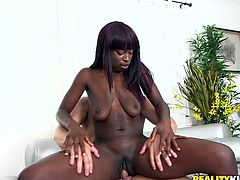 If you are an admirer of big brown asses, check out this hot booty! Slutty Raven simply loves to stay on top and riding dick, makes her to get really loose... She's like a fine piece of art and can turn every man with her sensual, crazy movements. Enjoy the hardcore scenes.