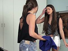 Visit official Babes's HomepageInsolent lesbian girls, Abigail Mac and Aspen Rae, are really horny and more than delighted to play with one another's wet vag