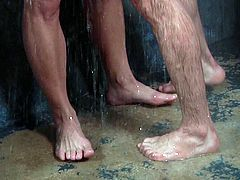 After waking up, a naughty boy goes to brush his teeth and spots his lover under the shower. Their naked bodies are a huge turn on and passionate Nicoli, is eager to offer an inciting blowjob to his partner. Watch these studs fucking in the shower!