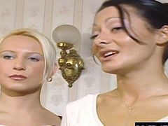 Gina Blonde and Sandra Romain had s much fun in the last scene, they decided to do an encore. They each had a meat puppet to pleasure, and they took turns getting double penetrated. They were real party girls and drained these dicks dry.