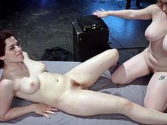 If lesbians are not enough for you, try out Electro Sluts. Aiden and Ingrid are having lots of kinky fun using electric toys, like vibrators and even something that resembles a cattle prod. Aiden helps out Ingrid, who has the electric vibrator on her clit, by fingering her, or more like fisting her, as you see.