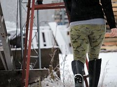 firn ass leggings camo patterned