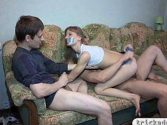 Tight amateur girlfriend blindfolded and banged real hard