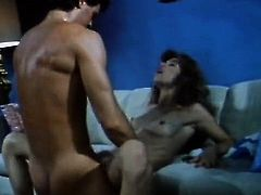 Amber Lynn, Nina Hartley, Buck Adams in classic fuck site