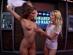 What is happening in the world today. These morning show hosts look at the funny stories, involving nudity with their special guests. After having a laugh, the Playboy models in the studio want to get nude, too.