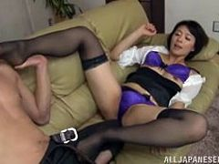 This mature milf got so horny when I licked her crotch over her panties. Pretty soon she wanted me so bad that she couldn't wait anymore. Watch as the lovely slut opens her legs for me to eat out her hairy cunt. This beautiful mom sucked me until I was ready to cum in her mouth.