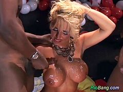 hot brazilian busty stepmom in her first extreme doublepenetration gangbang bukkake fuck orgy