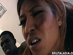 Petite Asian whores Lyla Lei and Sabrine Maui gets fucked by big black dick