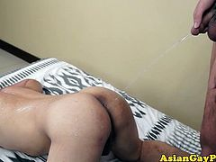 Cockhungry asian twinks golden shower action