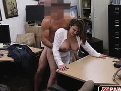 Sexy hot chick pussy ripped open for some quick cash