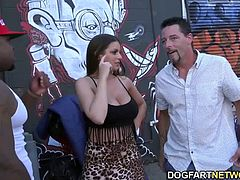 Brooklyn Chase loves her hubby but there are things that he can't deliver like a big, black cock. However, he's willing to let Brooklyn have her fix for interracial sex, as long as he can watch her. This time Brooklyn hooks up with two black bulls, namely Rico Strong and Stallion.