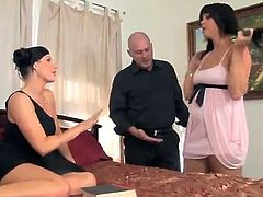 Alison Tyler And India Summer Share Mark Davis's fat prick