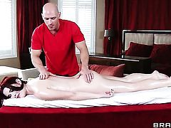 Melody Jordan finds butt fucking painful loves it with Johnny Sins so much