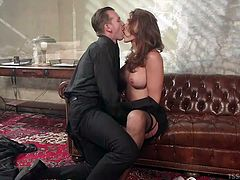 Horny Will cannot take his eyes from seductive Jonelle. This hot shemale, with long brown hair and big tits, tempts him with her crazy body. See the inciting scene of feet worshipping and enjoy the kinky details.