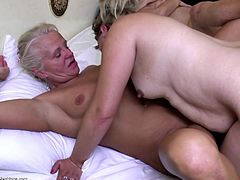 Old lesbian grannies fuck young pussies
