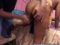 Indian Honey Stripped and Pussy Licked
